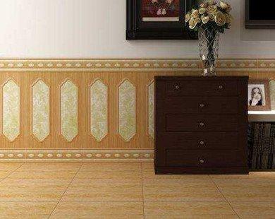 Cách chọn và sử dụng gạch ốp chân tường cho phòng khách