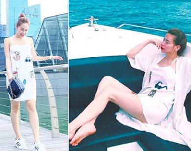 Thời trang giống nhau của Minh Hằng, Hà Hồ ngày còn thân thiết