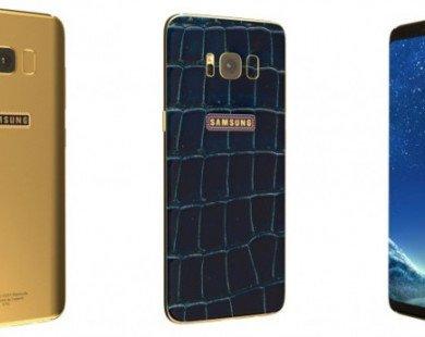 Độc đáo với phiên bản da cá sấu đính kim cương xanh của Galaxy S8