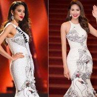 Phạm Hương lên sắc khi diện lại loạt đồ cũ ở Miss Universe