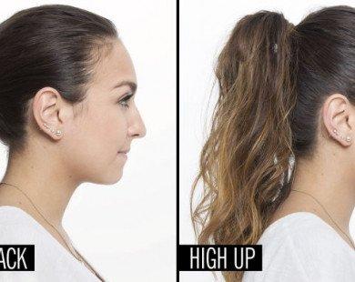 Hướng dẫn cách cột tóc để mặt trông thon gọn, xinh xắn hơn