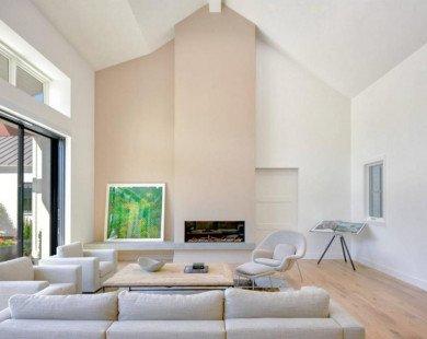 Thiết kế nhà màu trắng không bao giờ làm bạn thất vọng