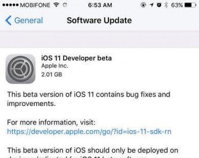 Cách tải và cài đặt iOS 11 beta cho iPhone