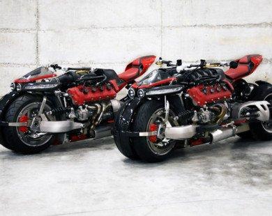 Siêu môtô Pháp mang động cơ V8, 470 mã lực của Maserati