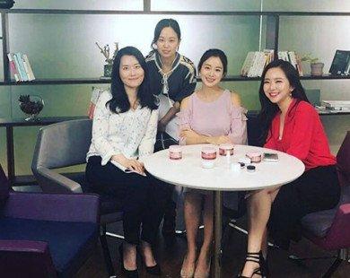 Kim Tae Hee có phần đẫy đà và hồng hào hơn khi mang thai