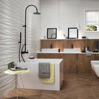 Gợi ý một số mẫu phòng tắm ốp gỗ sang chảnh