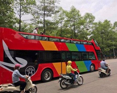 Xe bus 2 tầng 'mui trần' đã xuất hiện trên đường phố Hà Nội