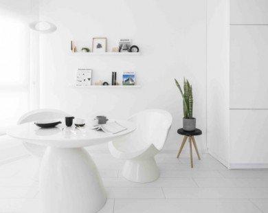 Căn hộ 42 m2 với màu trắng tinh tế