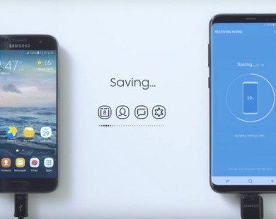 Sao chép nhanh dữ liệu, mật khẩu Wi-Fi trên Galaxy S8