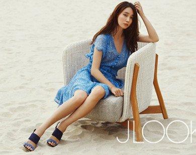Vợ tài tử Lee Byung Hun khoe da ngọc dáng ngà trên biển Đà Nẵng