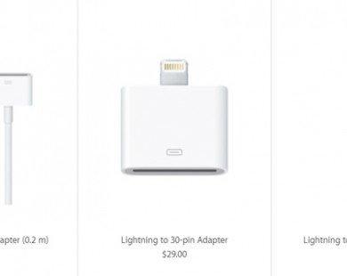 Apple bán 23 loại đầu nối, giá bằng một chiếc iPhone 7 Plus 128 GB