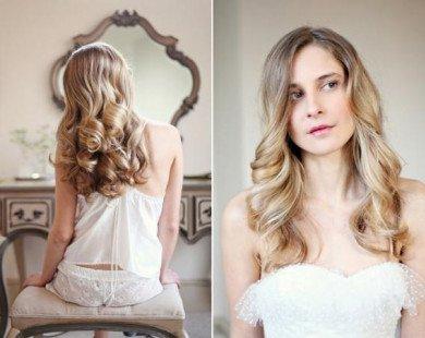Tự uốn tóc xoăn giả lãng mạn cho ngày cưới