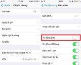 Kiểm soát tính năng tự động sửa lỗi trên iOS