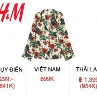 H&M Việt Nam chênh lệch giá như thế nào so với thế giới?