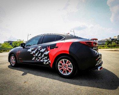 Mazda3 2017 dán tem Batman, độ đồ chơi tại Sài Gòn
