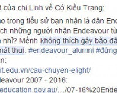 Cô giáo trong clip phát âm sai có nhận học bổng Endeavour?