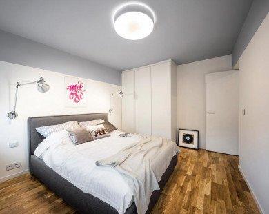Căn hộ 40m² đẹp hoàn hảo với hai màu đen - trắng