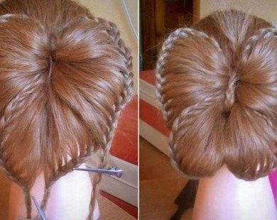 Hướng dẫn tết tóc nơ bướm đơn giản, dễ thương