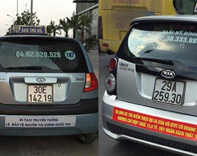 """Bị dồn tới đường cùng, taxi truyền thống tấp nập """"chống ế"""""""