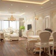 Tư vấn thiết kế căn hộ phong cách tân cổ điển với 620 triệu đồng