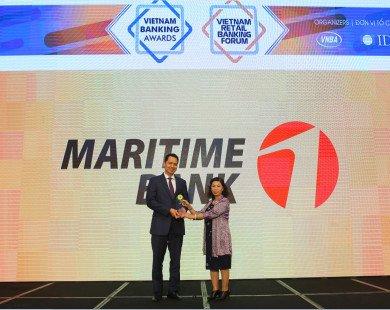 Maritime Bank nhận giải thưởng Ngân hàng đồng hành cùng doanh nghiệp vừa và nhỏ tốt nhất Việt Nam 2017