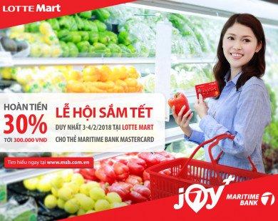 Sắm Tết tiết kiệm 30% giá trị hóa đơn với thẻ Maritime Bank Mastercard