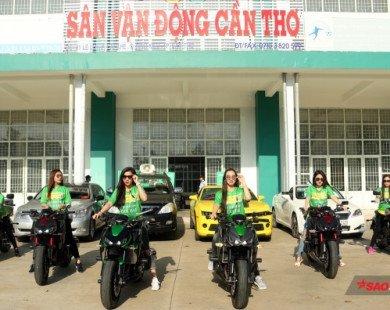 Dàn hot girl đi mô tô khủng quậy tưng bừng chào mừng Quang Hải, Duy Mạnh