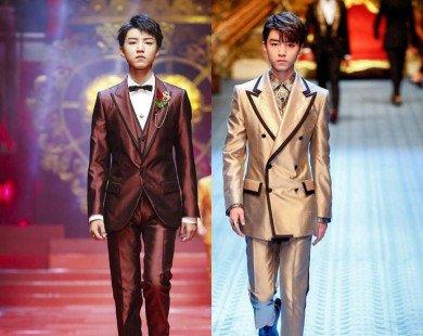 Vương Tuấn Khải hút hồn người hâm mộ khi sải bước trên sàn catwalk cùng thương hiệu Dolce&Gabbana
