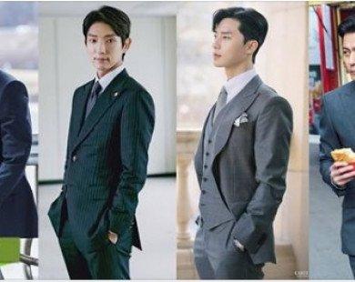"""Top 4 nam chính phim Hàn diện vest đẹp nhất, bất ngờ với thứ hạng của """"phó chủ tịch"""" Park Seo Joon"""