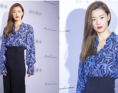 """Jeon ji Hyun: """"Mợ Chảnh"""" đẹp hết phần thiên hạ với màu tóc mới, diện áo gần 30 triệu"""