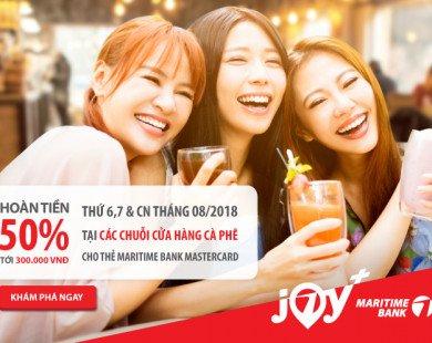 Thưởng thức café, bánh ngọt mừng sinh nhật Maritime Bank và nhận hoàn tiền 50% tại 5 chuỗi cửa hàng lớn