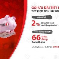 Tiết kiệm gửi góp trực tuyến  được hưởng lãi suất lên tới 8,9% tại Maritime Bank