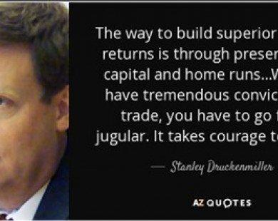 Stanley Druckenmiller: Cánh tay phải của Soros với kỳ tích không bao giờ lỗ trong suốt 30 năm