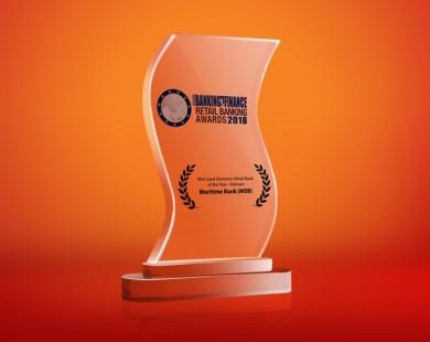 Maritime Bank được bình chọn là ngân hàng bán lẻ tốt nhất Việt Nam 2018