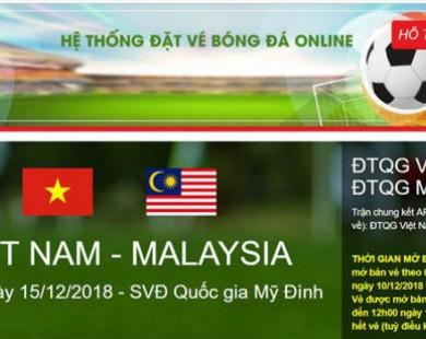 Phát hiện website giả đặt vé online trận chung kết AFF Cup