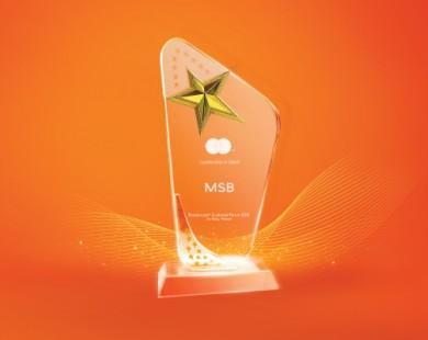 MSB top ngân hàng có thẻ thanh toán quốc tế Mastercard tốt nhất  năm 2018
