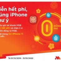 Giao dịch thảnh thơi, lên đời Iphone cùng MSB