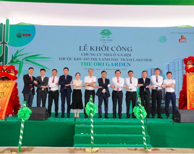 Lễ khởi công dự án Nhà ở xã hội và chung cư chất lượng cao Bàu Tràm - The Ori Garden tại Đà Nẵng